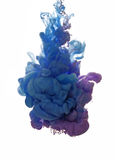 Abstract object of paint splash. Color cloud of ink in water stock photo