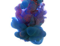 Abstract object of paint splash. Color cloud of ink in water royalty free stock photography