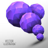 Abstract object. Spheres on white background. Vector graphic design. 3D abstract object. Spheres on white background. Vector Royalty Free Illustration