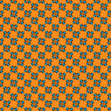 Abstract objects beautiful seamless pattern on an orange background Stock Image