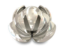 Abstract objects silver Royalty Free Stock Photography