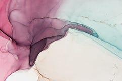 Abstract oceaanart. Natuurlijke Luxe De stijl neemt de wervelingen van marmer of de rimpelingen van agaat op Zeer mooie rode verf stock afbeeldingen