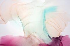 Abstract oceaanart. Natuurlijke Luxe De stijl neemt de wervelingen van marmer of de rimpelingen van agaat op Zeer mooie rode verf stock foto