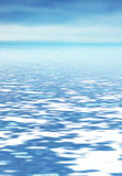 Abstract ocean. Infinite horizon where sea and sky meet Royalty Free Stock Image