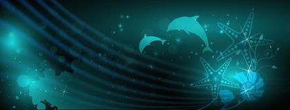 Abstract ocean blue background Stock Photo