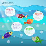Abstract ocean infographics design Stock Photo