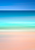 An abstract ocean seascape with blurred motion. Image displays a retro, vintage look with cross-processed colors. stock image