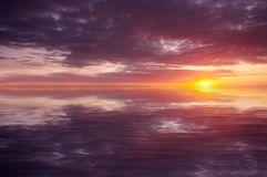 Abstract ocean and sunset Royalty Free Stock Images