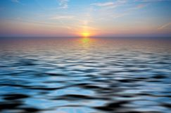 Abstract ocean and sunset back Royalty Free Stock Image