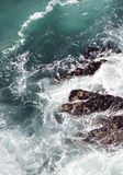 Abstract ocean surf on cliffs Stock Photography