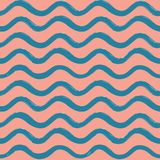 Abstract ocean wave seamless pattern. Wavy line stripe background. Abstract wave seamless pattern. Stylish geometric background. Wavy line ornamental wallpaper Royalty Free Stock Photo