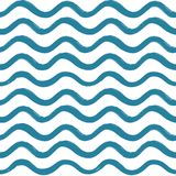 Abstract ocean wave seamless pattern. Wavy line stripe background. Royalty Free Stock Image