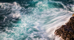 Abstract of ocean waves. With motion blur royalty free stock photography