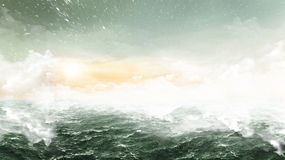 Abstract Oceans - Wide landscape Royalty Free Stock Image