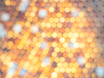 Abstract octagon bokeh background. Form honeycomb Stock Image