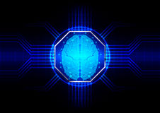 Abstract octagon with circuit board vector background. illustrat Royalty Free Stock Images