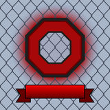 Abstract Octagon Fight Poster Stock Photos