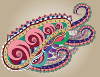 Abstract octopus. Abstract figure of an octopus with tentacles Royalty Free Stock Image