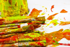 Free Abstract Of Colors Background Brushes Royalty Free Stock Photography - 22006467