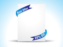 Abstract offer ribbon Royalty Free Stock Image