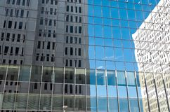 Twin Towers Reflections Abstract Stock Photo