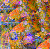 Abstract Oil On Canvas Stock Photo
