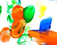 Abstract oil color. Brush strokes. Royalty Free Stock Images