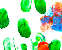 Abstract oil color. Paint brush strokes. Abstract the oil paint. Brushstrokes on canvas closeup. Colorful range of colors. Design elements Stock Photos