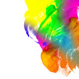 Abstract oil color. Rainbow. Abstract the oil paint. Brush strokes on canvas closeup. Colorful range of colors. Design elements. Rainbow Stock Images