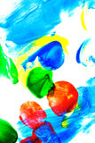 Abstract oil paint. Brush strokes. Abstract oil paint. Brush strokes on canvas closeup. Colorful palette of colors. Design elements Vector Illustration