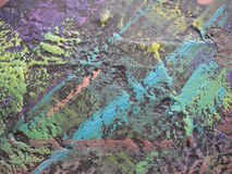 Abstract oil paint texture on canvas. Illustration for your design. Stock Images