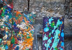 Abstract oil paint texture. Multicolored background. royalty free stock photos