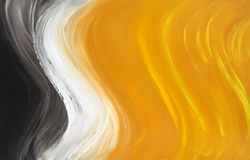 Abstract oil-painted curves Stock Photo