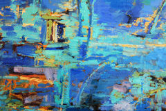 Abstract Oil Painting. With predominant blues Royalty Free Stock Image
