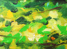 Abstract oil painting background. Resembling foliage Royalty Free Stock Photo