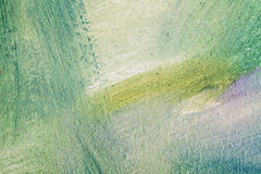 Abstract oil painting background, blue and green. Brush strokes Royalty Free Stock Photography