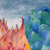 Abstract oil painting. Background of colorful abstract oil painting Royalty Free Stock Photography
