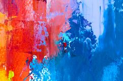 Abstract oil painting background. Oil on canvas texture. Hand dr. Abstract art background. Multicolored bright texture. Contemporary art. Oil painting on canvas royalty free illustration