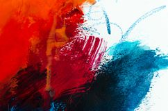 Free Abstract Oil Painting Background. Oil On Canvas Texture. Hand Dr Stock Photos - 126123303