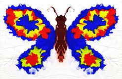 Abstract oil painting butterfly. Colorful digital illustration.  Stock Images