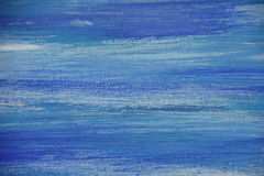 Abstract oil painting on canvas, Blue colored background Royalty Free Stock Photos