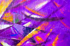 Abstract oil painting on canvas. Abstract oil painting on canvas, Fragment of artwork, Spots of paint, Modern art. Contemporary art. Colorful texture, thick vector illustration