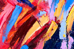 Abstract oil painting fragment Stock Image