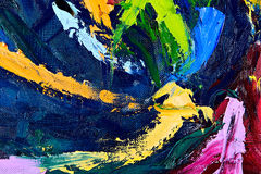 Abstract oil painting fragment Stock Photography