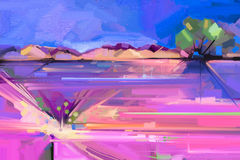 Abstract oil painting landscape background Royalty Free Stock Images