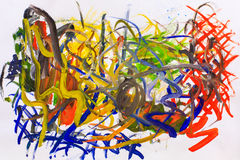Abstract oil painting Stock Photography