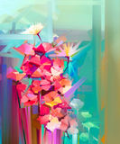 Abstract oil painting spring flower Royalty Free Stock Image