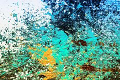 Abstract oil painting texture wallpaper. Close up of abstract oil painting on canvas texture wallpaper with brush strokes royalty free illustration