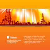 Abstract oil rig background. Vector illustration, contains transparencies, gradients and effects Royalty Free Stock Photo
