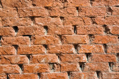 Abstract Old Brick Background. Old orange red brick wall with rough texture Stock Photo